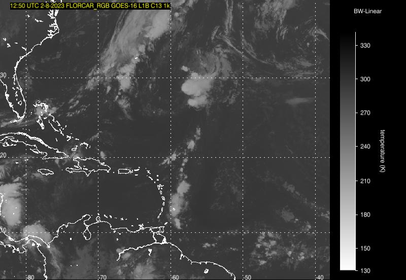 Oddly Shaped Weather Map.Satellite Trinidad Tobago Meteorological Service